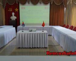 Khăn trải bàn phòng họp công ty tại Hà Tĩnh mã KTB111
