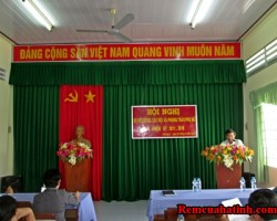 Phông màn hội trường tại tỉnh Hà Tĩnh mã PHT110