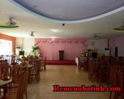 Phông rèm tiệc cưới màu hồng nhạt mã PHT120