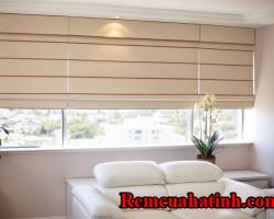Rèm xếp cửa sổ phòng khách tại Hà Tĩnh mã RM131