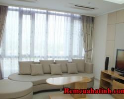 Rèm vải phòng khách cách nhiệt tốt mã RV136