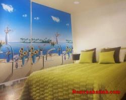 Rèm cuốn tranh cửa sổ phòng ngủ tại Hà Tĩnh mã RCT130