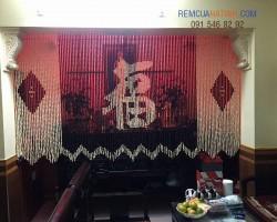 Mẫu rèm bàn thờ hạt gỗ Bồ Đề tại Hà Tĩnh mã RBT107