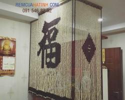 Mẫu rèm bàn thờ hạt gỗ chữ Phúc tại Hà Tĩnh mã RBT115