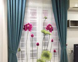 Rèm voan thêu tay nghệ thuật cao cấp tại Hà Tĩnh