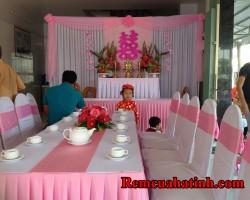 Khăn trải bàn cho tiệc cưới tại Hà Tĩnh mã KTB110
