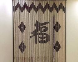 Rèm hạt gỗ trang trí tại tỉnh Hà Tĩnh mã RTT108