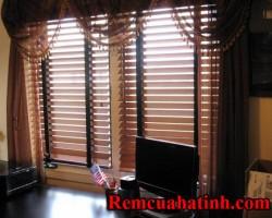 Rèm gỗ tự nhiên màu nâu tại tỉnh Hà Tĩnh mã RG124