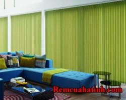Rèm lá dọc xanh lá cho phòng khách đẹp mã RLD119