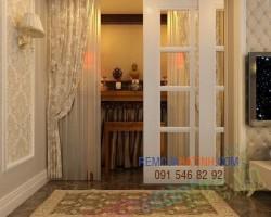 Rèm treo bàn thờ phòng thờ tại Hà Tĩnh mã RBT108