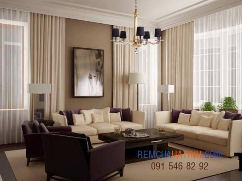 Rèm vải phòng khách đẹp tại Hà Tĩnh