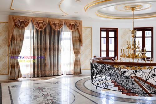 Rèm vải 2 lớp cho nội thất tân cổ điển