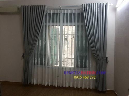 Rèm vải thô đơn giản sành điệu cho cửa sổ