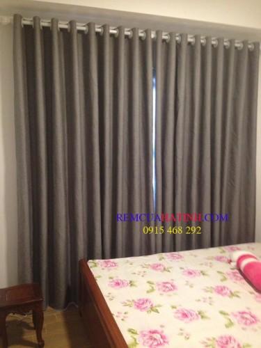 Rèm vải thô sợi mịn cho phòng ngủ